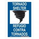 Brady 125517, 10″ x 7″ Aluminum Bilingual Tornado Shelter Sign