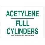 Brady 125571, 7″ x 10″ Aluminum Acetylene Full Cylinders Sign