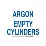 Brady 125580, 10″ x 14″ Aluminum Argon Empty Cylinders Sign