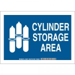 Brady 125625, 7″ x 10″ Aluminum Cylinder Storage Area Sign