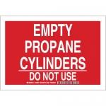 Brady 125655, Empty Propane Cylinders Do Not Use Sign