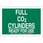 Brady 125673, 7″ x 10″ Aluminum Full Co2 Cylinders Ready For Use Sign