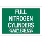 Brady 125694, Full Nitrogen Cylinders Ready For Use Sign