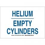 Brady 125709, 10″ x 14″ Aluminum Helium Empty Cylinders Sign