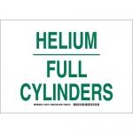 Brady 125715, 10″ x 14″ Aluminum Helium Full Cylinders Sign