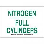 Brady 125733, 10″ x 14″ Aluminum Nitrogen Full Cylinders Sign