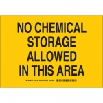 Brady 125736, Chemical Storage Allowed In This Area Sign