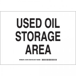 Brady 125766, 7″ x 10″ Aluminum Used Oil Storage Area Sign