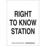 Brady 125776, 14″ x 10″ Polystyrene Right To Know Station Sign