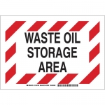 Brady 125790, 7″ x 10″ Aluminum Waste Oil Storage Area Sign