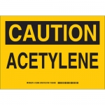 Brady 125890, 10″ x 14″ Polystyrene Caution Acetylene Sign