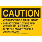 Brady 125901, Avoid Breathing Chemical Vapors Use… Sign