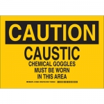 Brady 125922, Chemical Goggles Must Be Worn… Sign