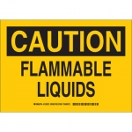 Brady 125974, 10″ x 14″ Polystyrene Caution Flammable Liquids Sign