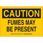Brady 125980, 10″ x 14″ Polystyrene Caution Fumes May Be Present Sign