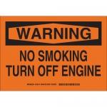 Brady 128176, Warning No Smoking Turn Off EngiSign