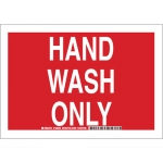 Brady 128266, 10″ x 14″ Polystyrene Hand Wash Only Sign