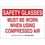Brady 128500, Must Be Worn When Using Compressed… Sign