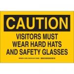 Brady 128614, Caution Visitors Must Wear Hard Hats… Sign