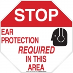 Brady 128680, Ear Protection Required In This Area Sign