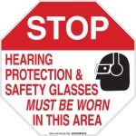 Brady 128683, Safety Glasses Must Be Worn… Sign
