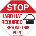 Brady 128692, Hard Hat Required Beyond This Point Sign