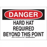 Brady 128746, Hard Hat Required Beyond This Point Sign