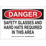 Brady 128788, Safety Glasses & Hard Hats Required… Sign