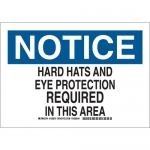 Brady 128872, Hard Hats & Eye Protection Required… Sign
