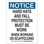 Brady 128950, Fall Protection Must Be Worn… Sign