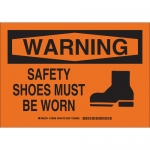 Brady 129010, Warning Safety Shoes Must Be Worn Sign