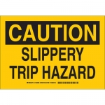 Brady 129071, 10″ x 14″ Polyester Caution Slippery Trip Hazard Sign