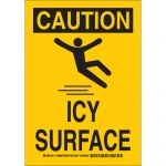 Brady 129089, 14″ x 10″ Polyester Caution Icy Surface Sign