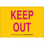 Brady 129197, 10″ x 14″ Polyester Keep Out Sign