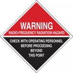 Brady 129343, Frequency Radiation Hazard Check… Sign