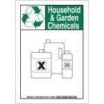 Brady 129393, 10″ x 7″ Aluminum Household & Garden Chemicals Sign