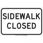 Brady 129445, 12″ x 18″ Polystyrene Sidewalk Closed Sign