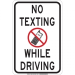 Brady 129481, 18″ x 12″ Polystyrene No Texting While Driving Sign
