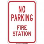 Brady 129733, 18″ x 12″ Polystyrene No Parking Fire Station Sign