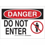 Brady 131620, 10″ x 14″ Polyester Danger Do Not Enter Sign