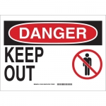 Brady 131652, 10″ x 14″ Polyester Danger Keep Out Sign