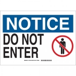 Brady 131668, 10″ x 14″ Polyester Notice Do Not Enter Sign
