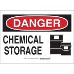 Brady 131748, 10″ x 14″ Aluminum Danger Chemical Storage Sign