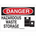 Brady 131756, 10″ x 14″ Aluminum Danger Hazardous Waste Storage Sign