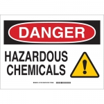 Brady 131764, 10″ x 14″ Aluminum Danger Hazardous Chemicals Sign