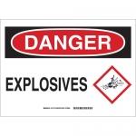 Brady 131772, 10″ x 14″ Aluminum Danger Explosives Sign