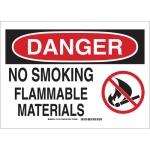 Brady 131786, Danger No Smoking Flammable Materials Sign