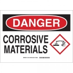 Brady 131812, 10″ x 14″ Aluminum Danger Corrosive Materials Sign