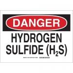Brady 131842, 10″ x 14″ Polystyrene Danger Hydrogen Sulfide (H2S) Sign