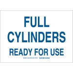Brady 131888, 10″ x 14″ Aluminum Full Cylinders Ready For Use Sign